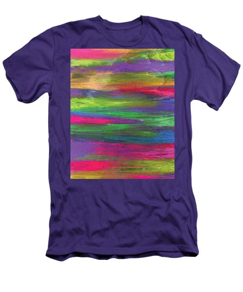 Neon Rainbow Men's T-Shirt (Athletic Fit)