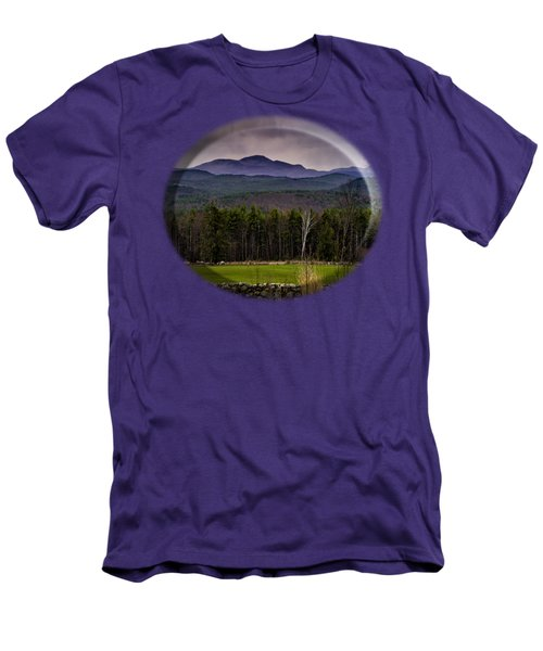 Men's T-Shirt (Slim Fit) featuring the photograph New England Spring In Oil by Mark Myhaver