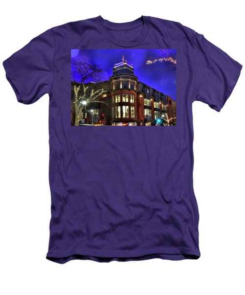 Men's T-Shirt (Slim Fit) featuring the photograph Newbury Street And The Prudential - Back Bay - Boston by Joann Vitali