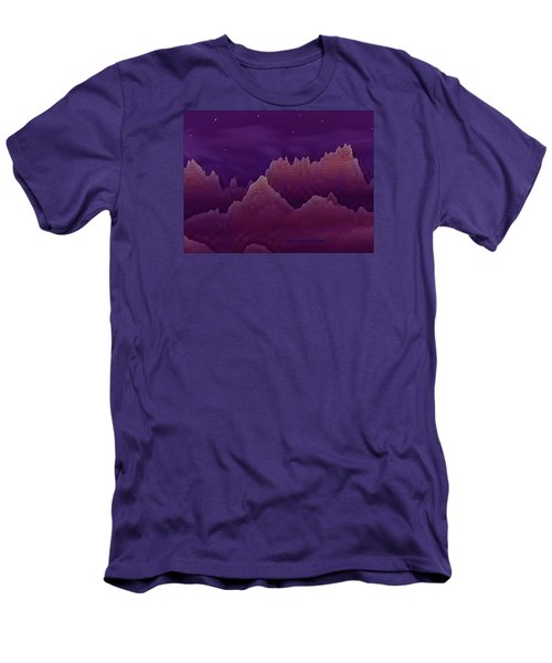 Men's T-Shirt (Slim Fit) featuring the digital art Night by Dr Loifer Vladimir
