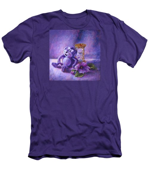 No Time To Monkey Around Men's T-Shirt (Slim Fit) by Retta Stephenson