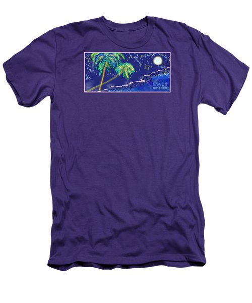 Men's T-Shirt (Slim Fit) featuring the painting Noche Tropical by The Art of Alice Terrill