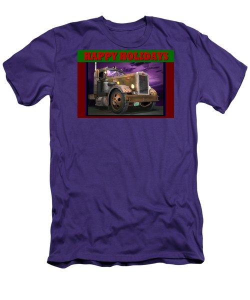 Ol' Pete Happy Holidays Men's T-Shirt (Slim Fit) by Stuart Swartz
