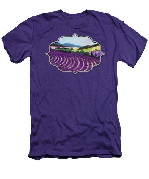 On Lavender Trail Men's T-Shirt (Slim Fit) by Anastasiya Malakhova