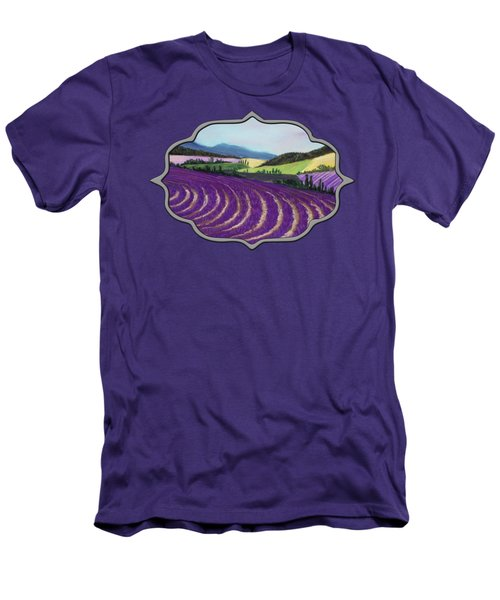 On Lavender Trail Men's T-Shirt (Athletic Fit)