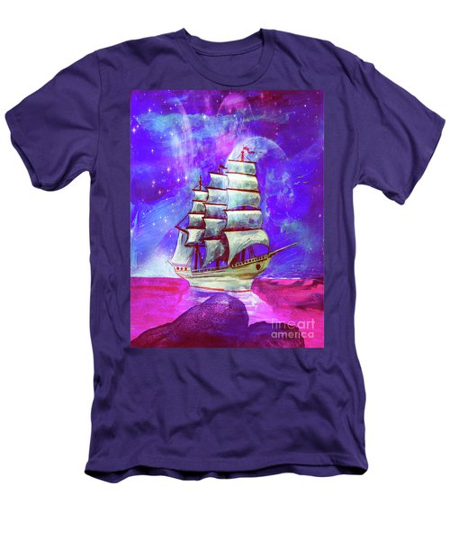 On The Sea At Sunset Men's T-Shirt (Athletic Fit)