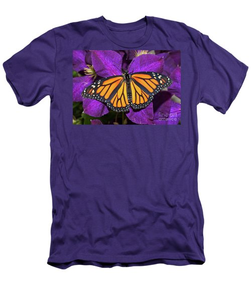 Orange On Purple Men's T-Shirt (Athletic Fit)