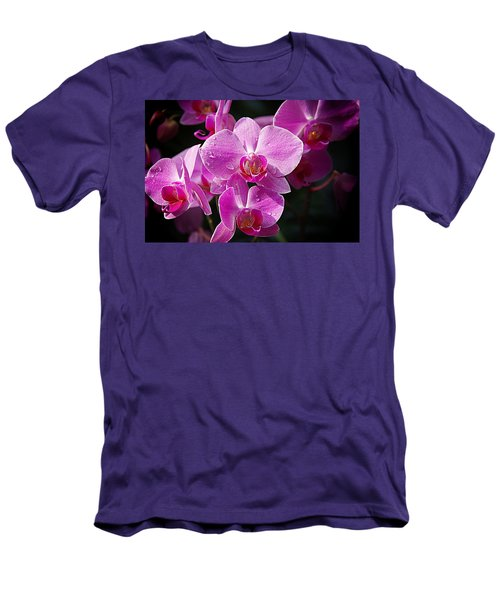 Orchids 4 Men's T-Shirt (Slim Fit) by Karen McKenzie McAdoo