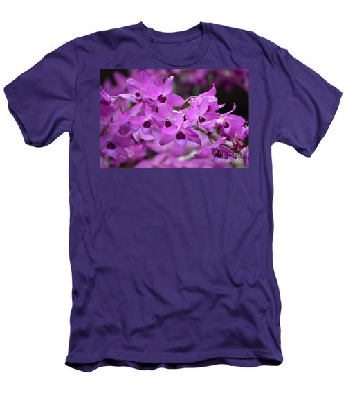 Orchids Paint Men's T-Shirt (Athletic Fit)