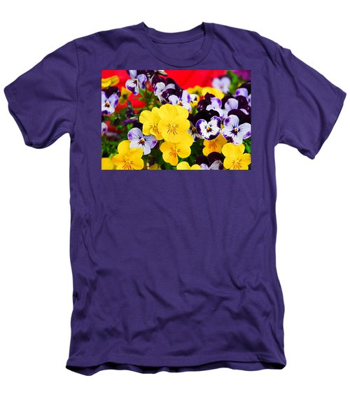 Pansies And Red Cart Men's T-Shirt (Athletic Fit)