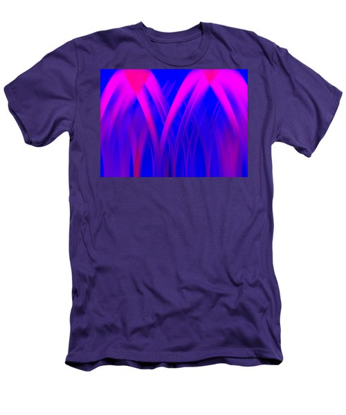 Men's T-Shirt (Slim Fit) featuring the digital art Pink Lacing by Carolyn Marshall