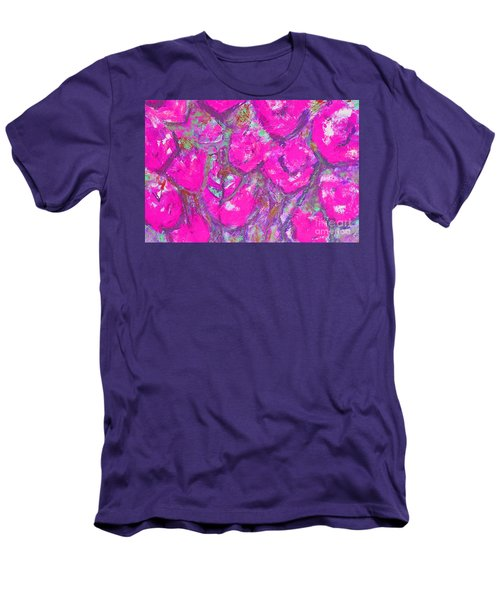 Pink Poppies Men's T-Shirt (Slim Fit) by Gallery Messina