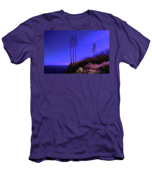 Men's T-Shirt (Slim Fit) featuring the photograph Point Fermin In Infrared by Randall Nyhof