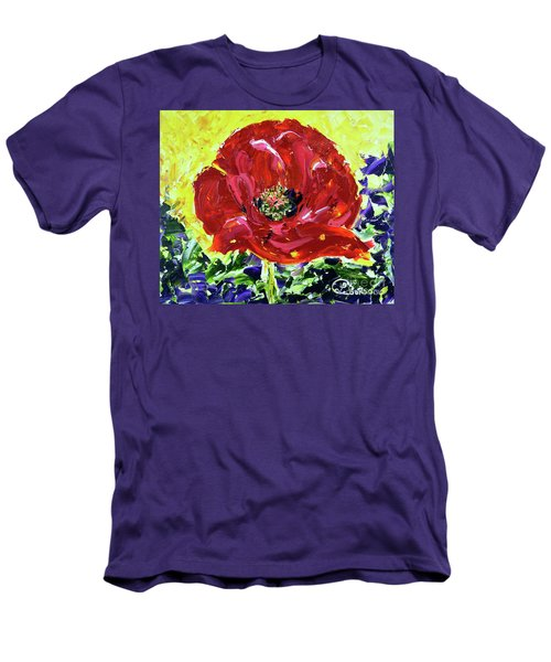 Poppy Amongst Lavender Men's T-Shirt (Athletic Fit)