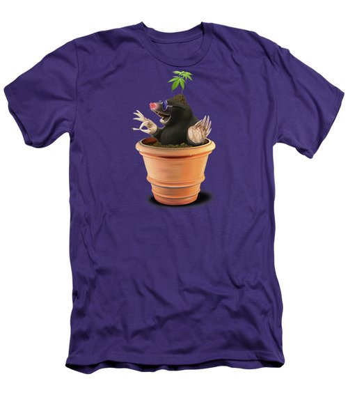 Men's T-Shirt (Slim Fit) featuring the drawing Pot Colour by Rob Snow