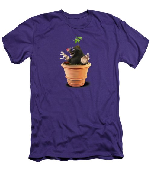 Pot Wordless Men's T-Shirt (Slim Fit) by Rob Snow