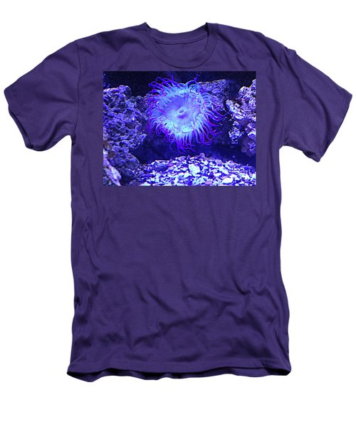 Men's T-Shirt (Slim Fit) featuring the photograph Predatory Terrestrial Sea Anemone by Richard W Linford