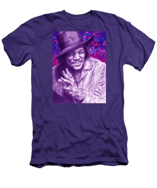 Psychedelic Jimi Men's T-Shirt (Athletic Fit)