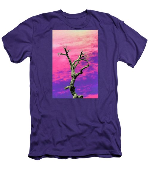 Psychedelic Tree Men's T-Shirt (Slim Fit) by Richard Patmore