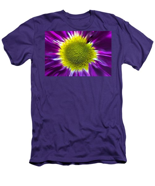 Purple Burst Men's T-Shirt (Athletic Fit)