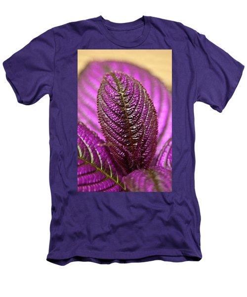 Purple Coleus Men's T-Shirt (Slim Fit) by Carolyn Marshall
