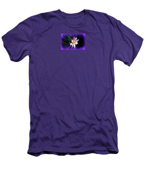 Men's T-Shirt (Slim Fit) featuring the photograph Purple Daisy Flower by Susanne Van Hulst