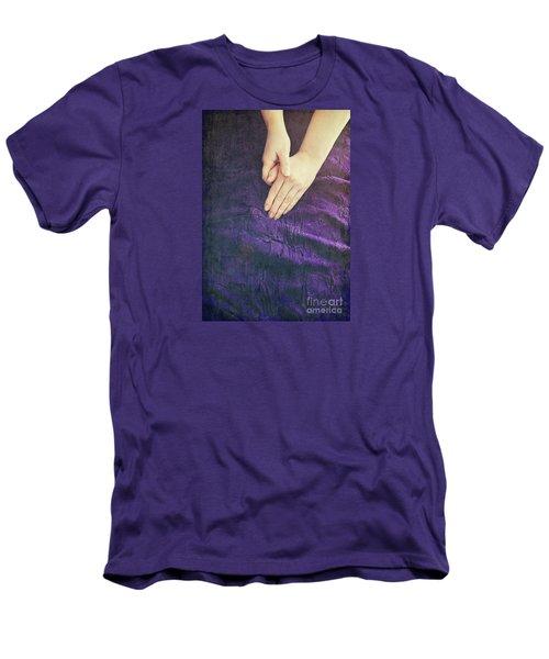 Purple Dress Men's T-Shirt (Slim Fit) by Lyn Randle
