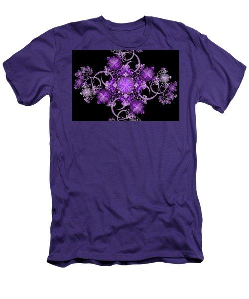 Men's T-Shirt (Slim Fit) featuring the photograph Purple Floral Celebration by Sandy Keeton