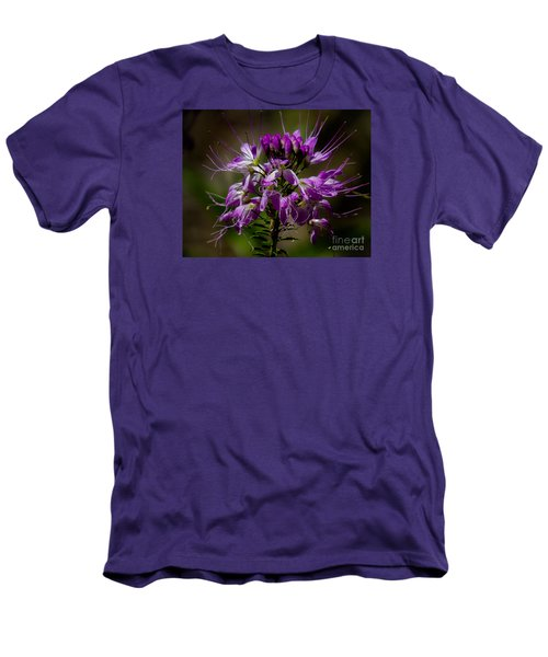 Purple Flower 1 Men's T-Shirt (Athletic Fit)