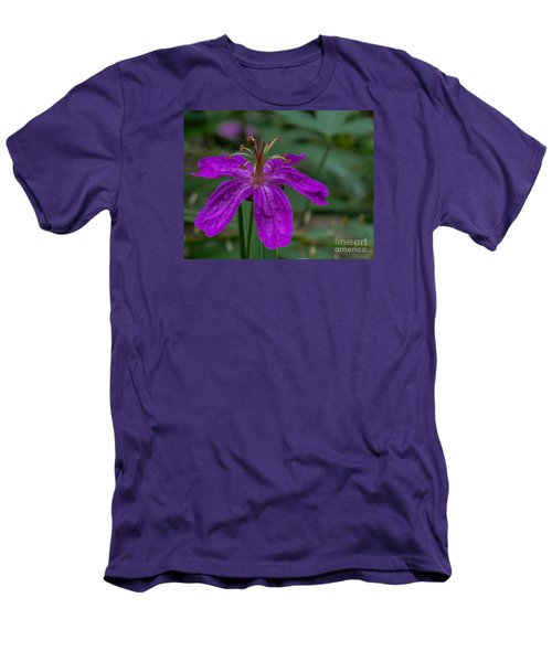 Purple Flower 5 Men's T-Shirt (Athletic Fit)