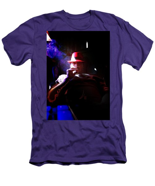Purple Haze Boss  Men's T-Shirt (Slim Fit) by John Jr Gholson