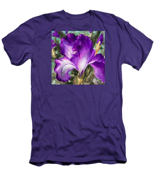 Purple Iris Men's T-Shirt (Slim Fit) by Vali Irina Ciobanu