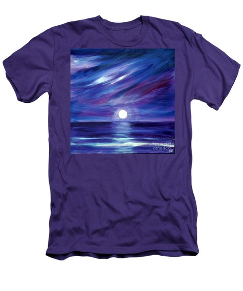 Purple Night Men's T-Shirt (Athletic Fit)