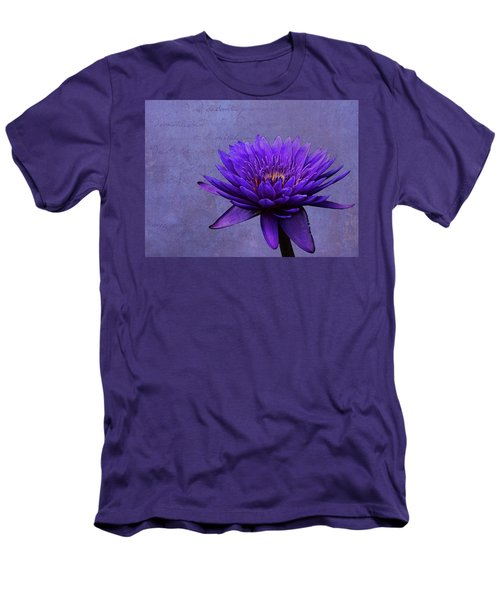 Men's T-Shirt (Slim Fit) featuring the photograph Purple Passion by Judy Vincent