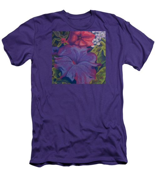 Purple Petunia Men's T-Shirt (Athletic Fit)