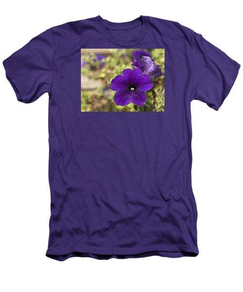 Purple Petunias Men's T-Shirt (Athletic Fit)
