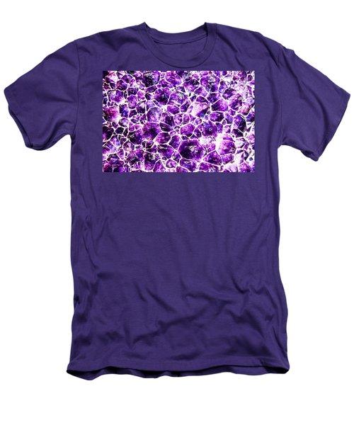 Men's T-Shirt (Athletic Fit) featuring the photograph Purple Quartz by Greg Collins
