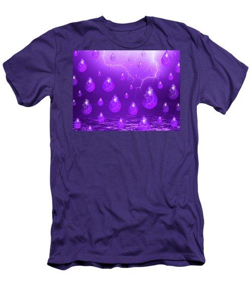 Purple Rain Men's T-Shirt (Athletic Fit)