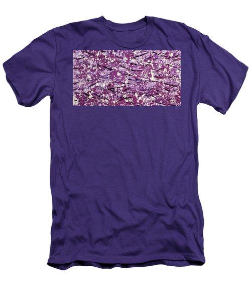 Purple Splatter Men's T-Shirt (Athletic Fit)