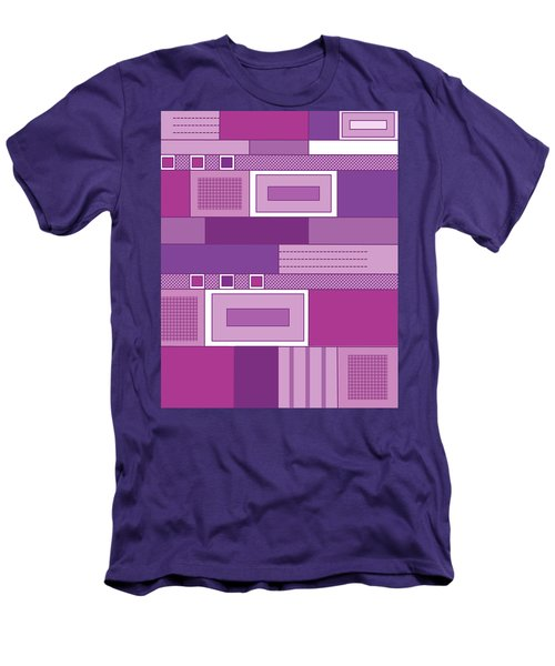 Purple Time Men's T-Shirt (Slim Fit) by Tara Hutton