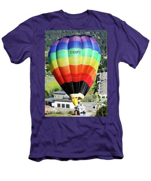 Rainbow Balloon 5 Men's T-Shirt (Athletic Fit)