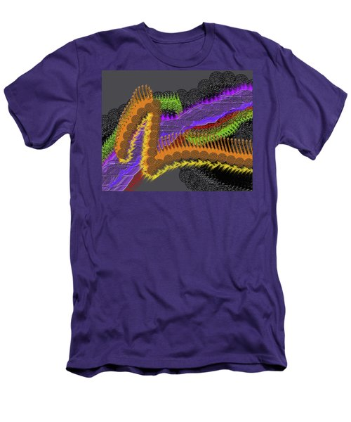 Rainbow Currents Men's T-Shirt (Athletic Fit)