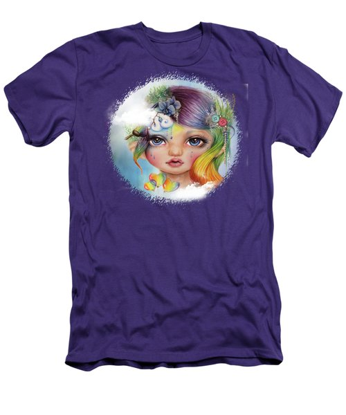 Rainbow Rosalie  Men's T-Shirt (Slim Fit) by Sheena Pike