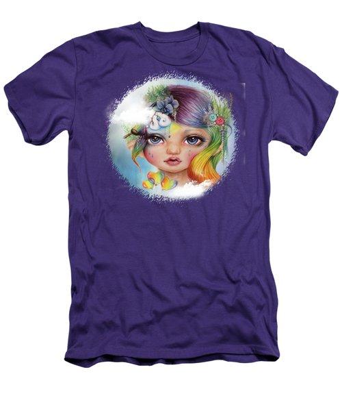 Rainbow Rosalie  Men's T-Shirt (Athletic Fit)