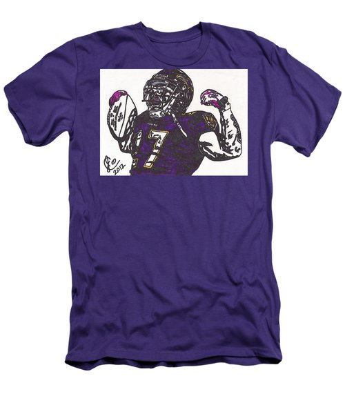 Men's T-Shirt (Slim Fit) featuring the drawing Ray Rice 1 by Jeremiah Colley