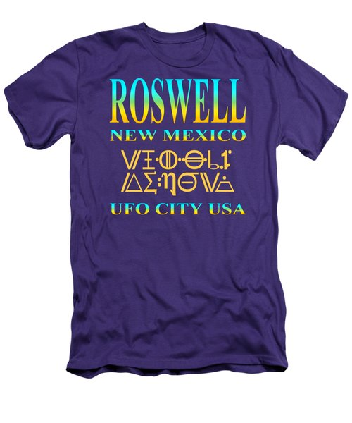 Roswell New Mexico - U. F. O. City U. S. A. Men's T-Shirt (Athletic Fit)