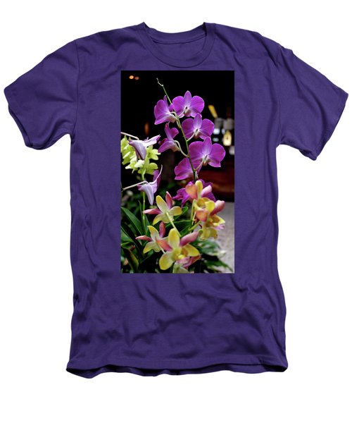 Men's T-Shirt (Athletic Fit) featuring the photograph Royal Hawaiian Orchids by Michele Myers