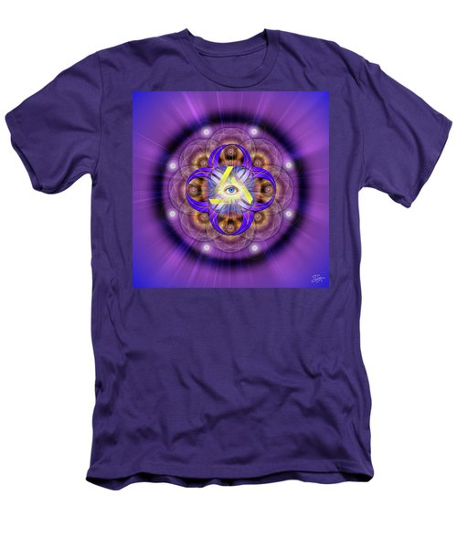 Sacred Geometry 639 Men's T-Shirt (Slim Fit) by Endre Balogh