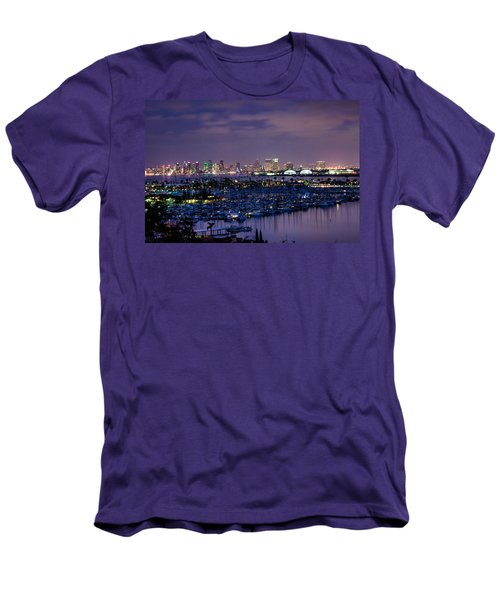 San Diego Skyline 4 Men's T-Shirt (Athletic Fit)