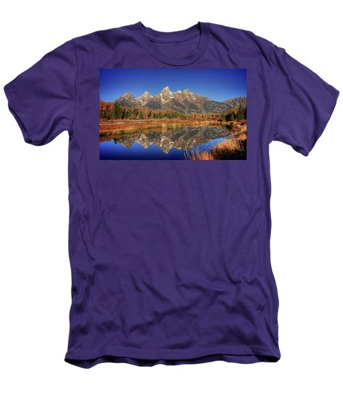 Schwabacher Landing Grand Teton National Park Men's T-Shirt (Slim Fit) by James Hammond